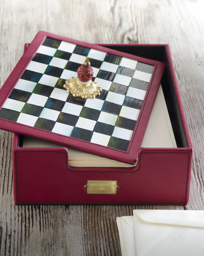 MacKenzie-Childs Courtly Check Desk Box