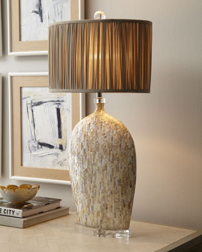 """Dome"" Mother-of-Pearl Lamp"