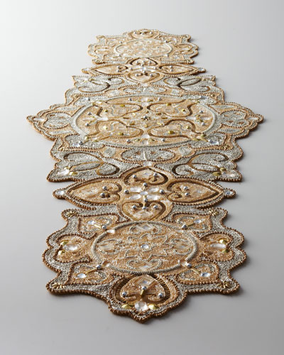 """Baroque"" Beaded Table Runner"