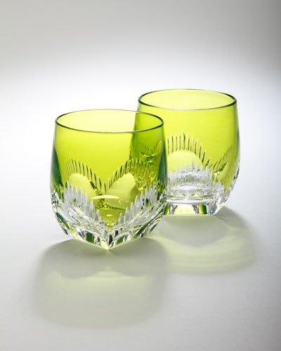 "Waterford Two ""Mixology"" Neon Lime Tumblers"