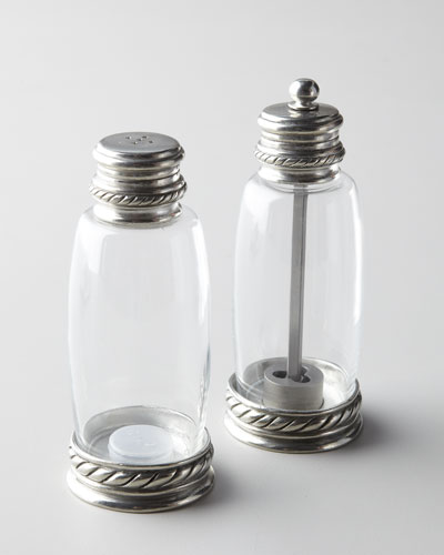 Vagabond House Pewter-Accented Salt & Pepper Set