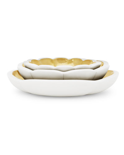 AERIN Three Floral Nesting Bowls