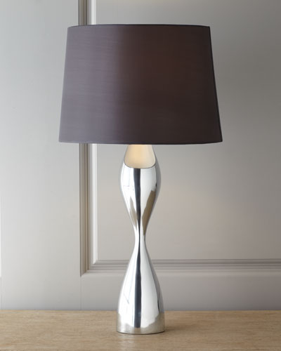 "Nambe ""Forma"" Hourglass Table Lamp"