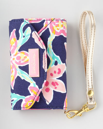 "Lilly Pulitzer ""Ring Me Up"" iPhone Wristlet"