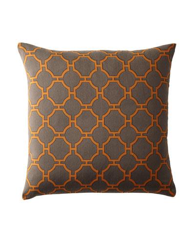 """Kinder"" Orange Pillow"