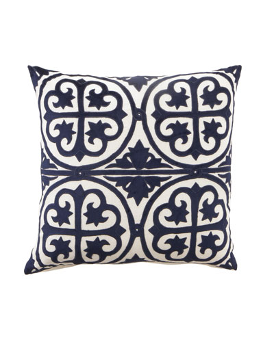 "Navy & White ""Venice"" Collection 22""Sq. Pillow"