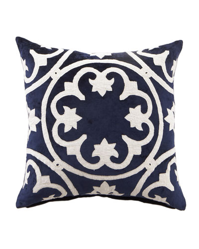 "Navy & White ""Venice"" Collection  20""Sq. Pillow"