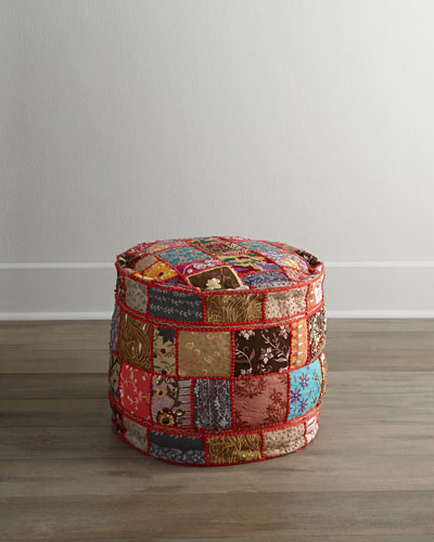 Bright Patchwork Pouf