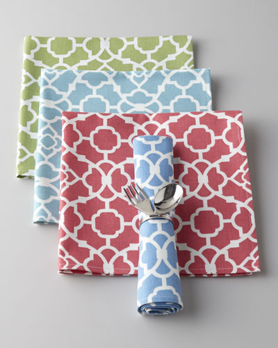 "Four ""Lovely Lattice"" Napkins"