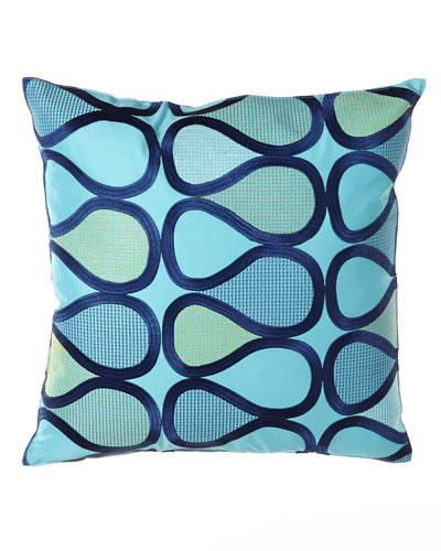 "Trina Turk ""Peacock"" Pillow, 20""Sq."