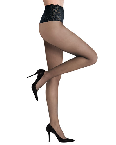 Commando Premier Lace Waist Sheer Tights