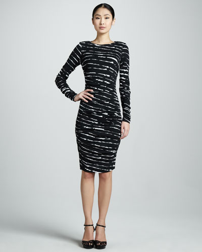 Nicole Miller Ruched Jersey Dress