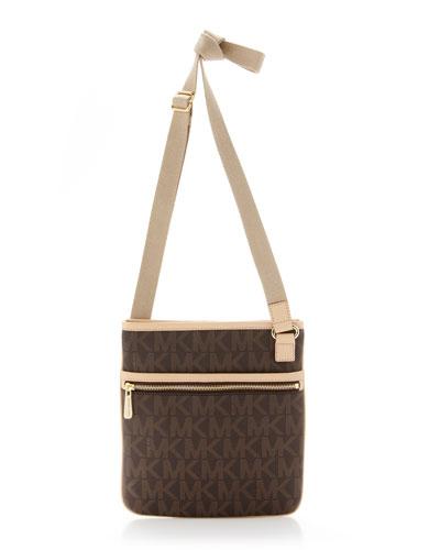 michael michael kors large crossbody bag brown. Black Bedroom Furniture Sets. Home Design Ideas