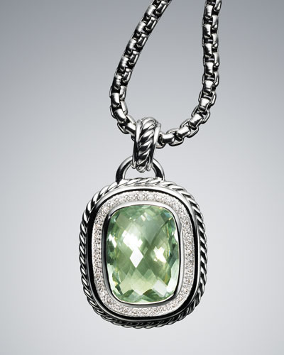 David Yurman 20x15mm Prasiolite Wheaton Enhancer