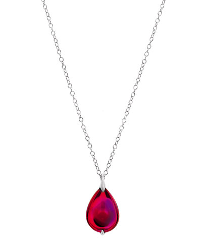 Baccarat Fleurs De Psydelic Iridescent Ruby Necklace, Large