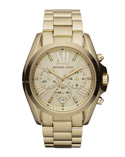 Michael Kors Mid-Size Bradshaw Chronograph Watch, Golden