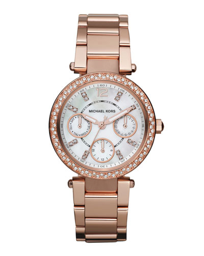 Mini-Size Parker Multi-Function Watch, Rose Golden
