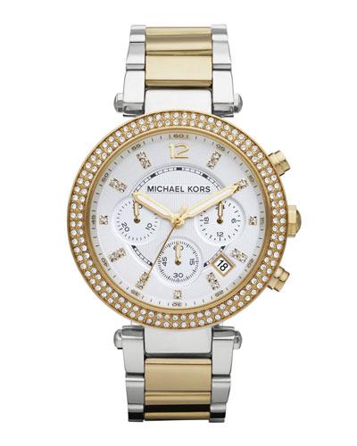 Parker Glitz Watch, Two-Tone