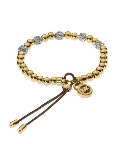 Bead Stretch Bracelet, Golden
