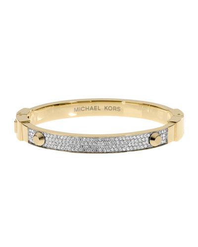 Pave Hinge Bracelet, Golden