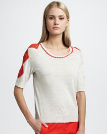 Tory Burch Milton Trimmed Sweater