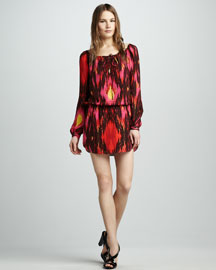 Haute Hippie Ikat-Print Dress