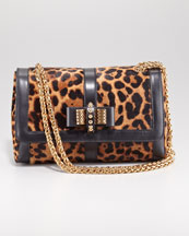 Christian Louboutin Sweet Charity Leopard-Print Shoulder Bag