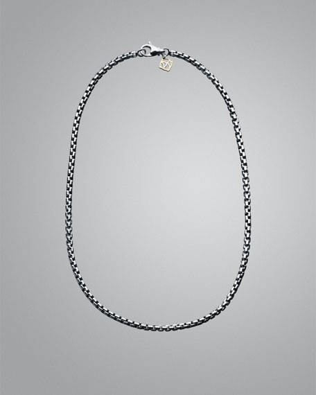 David Yurman Medium Box Chain with Gold, 18