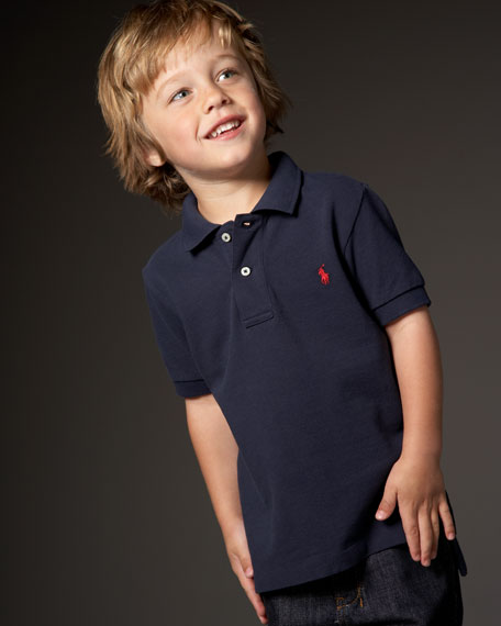 Solid Mesh Polo, Sizes 2T-4T