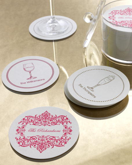 THE CHATSWORTH COLLECTION Filigree Border Coasters