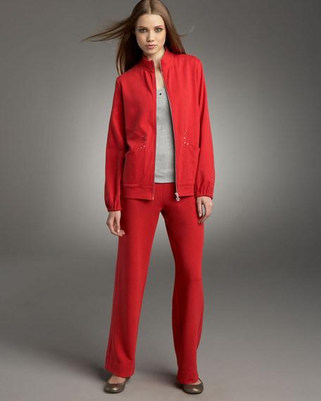 Joan Vass Zip Track Jacket, Women's