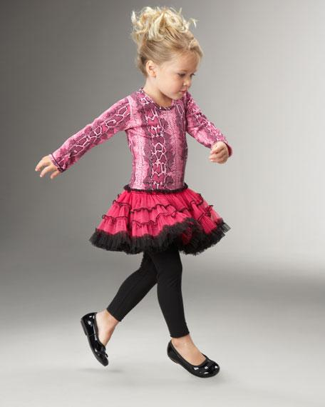 Pink Snakeskin-Print Dress