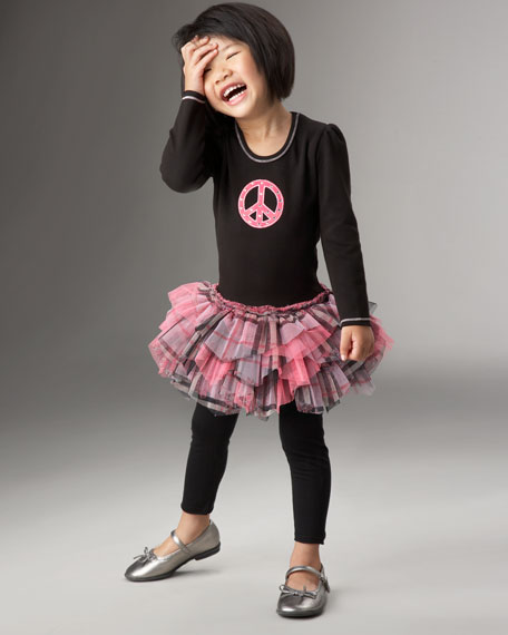 Peace-Sign Tutu Dress