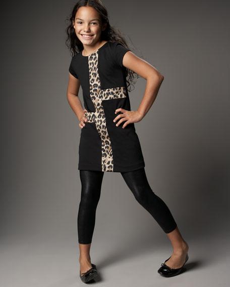 Leopard-Print Color-Block Dress