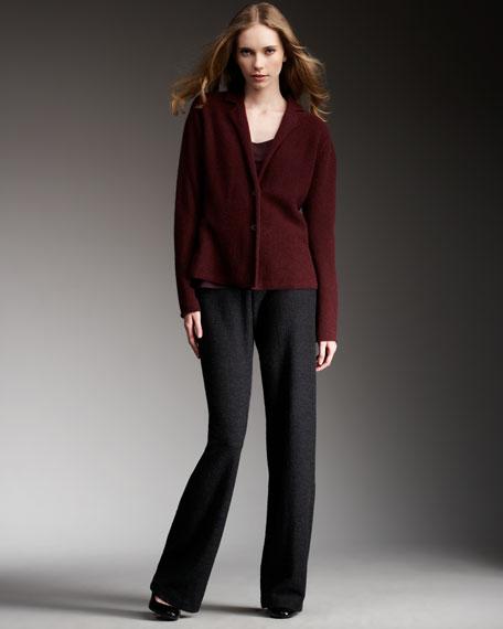 Wool Notch-Collar Jacket, Petite