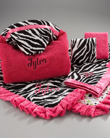 Zebra Toddler Blanket, Personalized