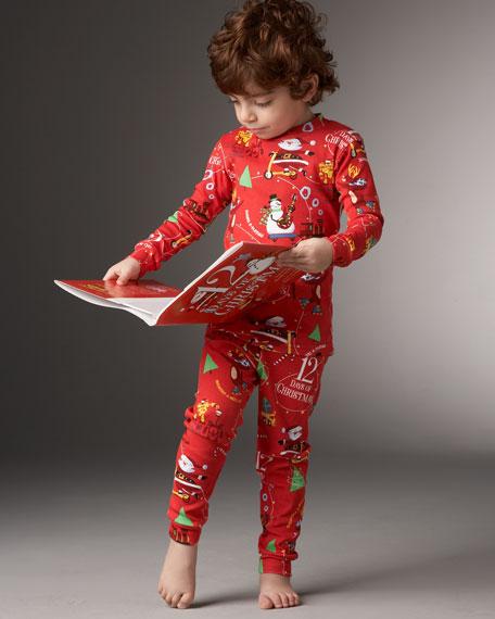 12 Days of Christmas Book & PJ Set, Sizes 2-3T