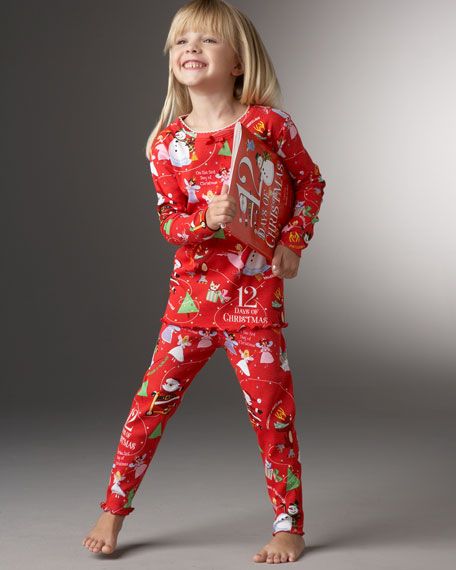 12 Days of Christmas Book & PJ Set, Sizes 2T-3T