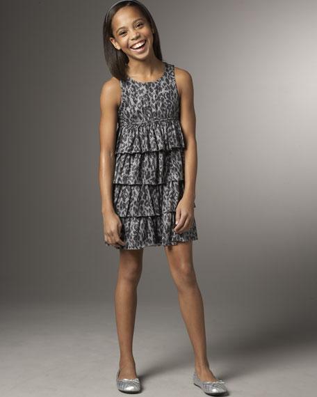 Juicy Couture Sparkle Leopard Print Dress