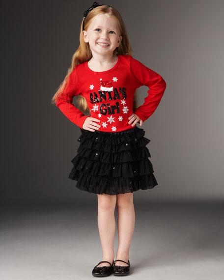 Santa's Girl Tee, 2-6X