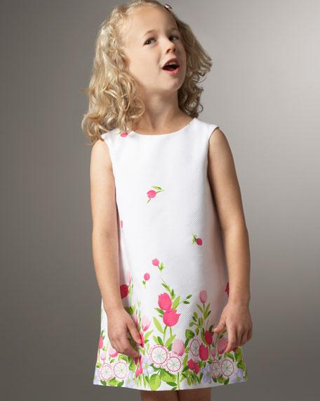 Floral Shift Dress, Sizes 2-4T