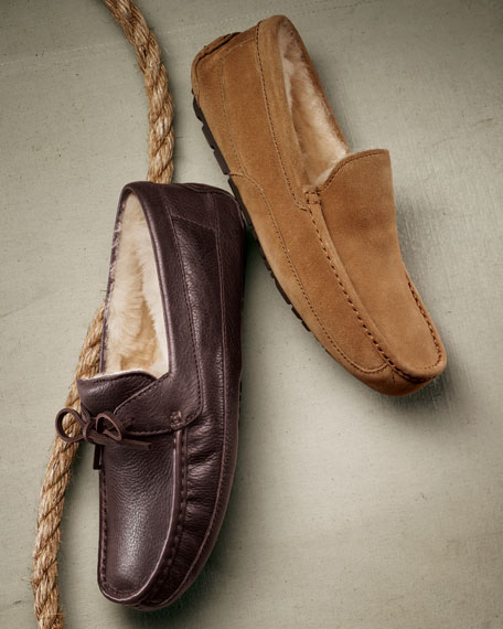 Ascot Suede and Shearling Slippers