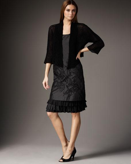 Cropped Semi-Sheer Cardigan, Women's