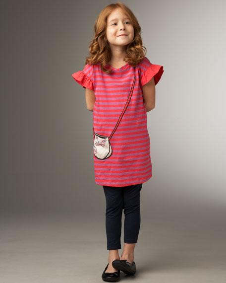 Striped Purse-Pocket Dress, Sizes 2-6