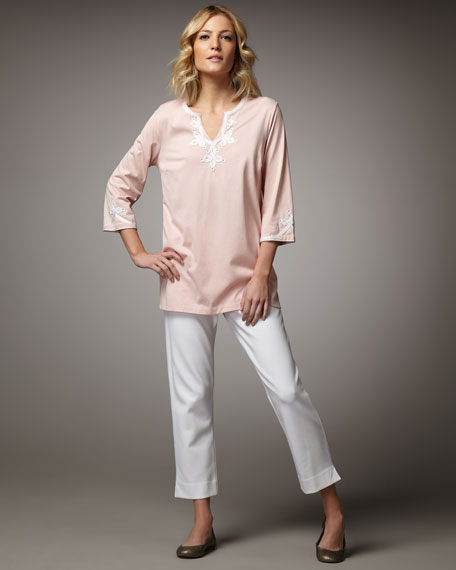 Embellished Cotton Tunic, Women's