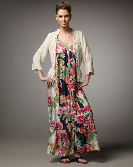 Floral-Print Maxi Dress, Women's