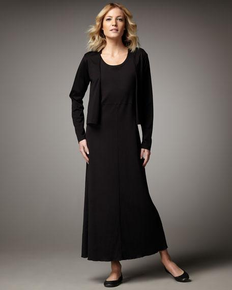 Joan Vass Cropped Open-Front Cardigan, Women's