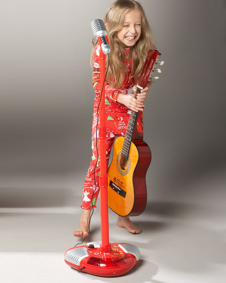 Sing-a-Long Microphone and Stand, Red