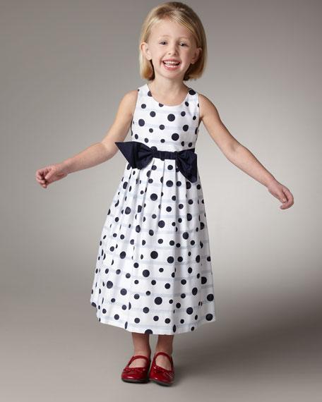 Polka-Dot Dress, Sizes 2-4T