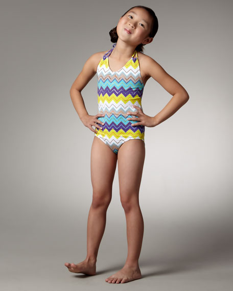 Zigzag Swimsuit, Sizes S-XL